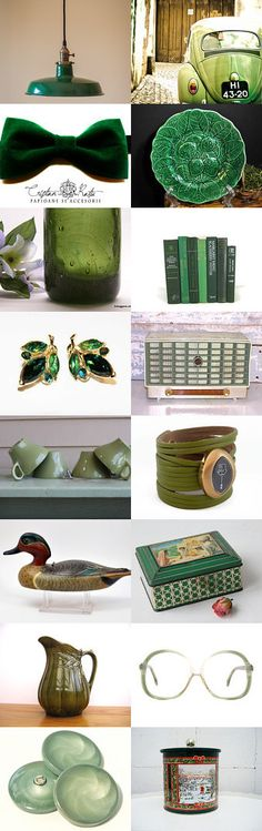 Green Velvet , Retro , And Rare by Elinor Levin on Etsy--Pinned with TreasuryPin.com