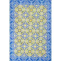 This Blue Tile Trinidad Rug by nuLOOM is perfect! Nuloom, Green Decor, Door Rugs, Blue Rug, Area Rug Sizes, Rugs, Blue Area Rugs, Rug Options, Blue Tiles