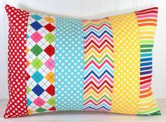 Decorative+Pillow+Cover+Rainbow+Nursery+Decor+by+theredpistachio,+$22.50