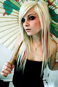 blond emo hair.  I like this one because it doesn't get too thin at the bottom.