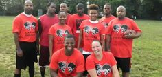 CoEd Football Hike! A team of athletes that love sports. Great picture! rushordertees.com