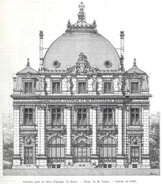 Design for a Caisse d'Epargne, Troyes