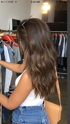 popular brunette balayage hair color ideas 21 ~ my.me popular brunette balayage hair co. Medium Hair Styles, Curly Hair Styles, Cute Hair Cuts Medium, Haircut For Medium Length Hair, Haircut Medium, Medium Haircuts, Waves Haircut, Haircut Bob, Honey Hair