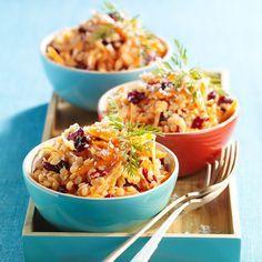 Découvrez la recette de la salade de lentilles corail et carottes