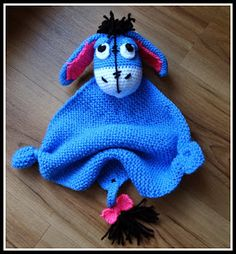 Eeyore Baby Lovey - instructions in German; not sure how well they translate, but how cute!