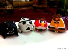 Angry birds star wars cake toppers