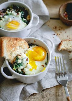 This easy kale feta egg bake is a perfect quick weeknight dinner or savory breakfast. Add cooked ground sausage for a heartier meat version.