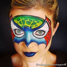 when you cant decide which superhero you want to be Cameron lets you choose them all! Dinosaur Face Painting, Superhero Face Painting, Face Painting For Boys, Body Painting, Iron Man Face Paint, Cool Face Paint, Mask Face Paint, Face Painting Tutorials, Face Painting Designs