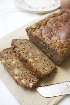 This healthier Apple Banana Greek Yogurt Quick Bread is made without butter or oil and is naturally sweetened with bananas and apples. The end result is so tender and delicious, you'll never guess that it's good for you!