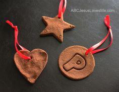 Apple, Cinnamon Ornaments - Smell so good!