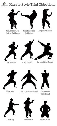 A Lawyer's Illustrated Guide to Karate-Style Trial Objections | Via Bitter Lawyer (#lawyer #law #attorney #trial)