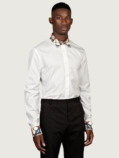 Alexander McQueen AW13 • Men's Stained Glass Collar and Cuff Shirt