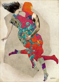 Love is a Tango by Catrin Welz-Stein in Surreal on .the art of catrin welz-stein I love this Collage Kunst, Mode Collage, Art Du Collage, Collage Artists, Art And Illustration, Illustrations, Art Actuel, Tango Art, Art Du Monde