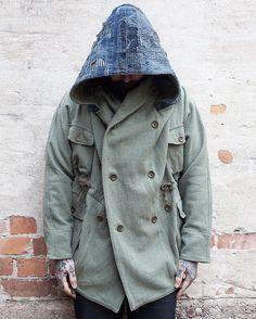 "panchoandleftyshop: ""Kapital Ring Coat. Wool x Boro. (made in japan, kountry, blue hands, sashiko) """
