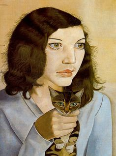 Girl With A Kitten, Lucien Freud