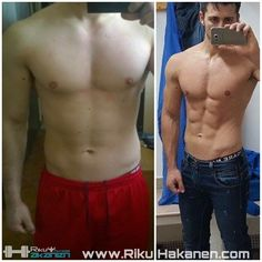 My client Luca Picentinis amazing transformation from 87kg to 80.5kg in 11-weeks. He spared all muscle and almost all strength with my coaching. For more visit www.RikuHakanen.com