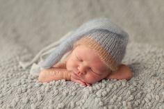 newborn photo prop  nightcap  silk mohair by MyLittleRarities