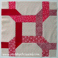 made by ChrissieD: We're Gonna Do The Twist And It Goes Like This - My February Bee Block Celtic twist block Quilting Tutorials, Quilting Projects, Quilting Designs, Sewing Projects, Quilt Block Patterns, Pattern Blocks, Quilt Blocks, Pattern Ideas, Free Pattern