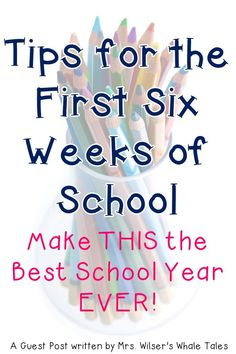Classroom management is vital to the success of any teacher. But getting those behaviors under control can be a real challenge. Here are some great ideas to help you make it through the first six weeks of school. Teachers at ANY grade level will benefit from these ideas, but they're particularly useful for elementary staff. {preschool, Kindergarten, 1st, 2nd, 3rd, 4th, 5th, 6th grade} First Day Of School Activities, 1st Day Of School, Beginning Of The School Year, Back To School Art, School School, First Year Teachers, New Teachers, Elementary Teacher, Teachers Toolbox