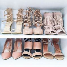 A closet full of nude shoes is a great why to pick a shoe that goes with everything