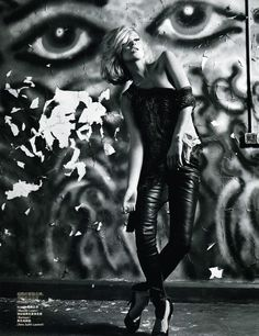 UNCONVENTIONAL ROCK STYLE | Kate Moss | Mario Sorrenti #photography | Vogue China December 2008