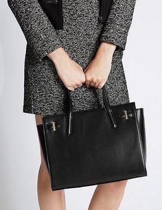 Leather Tote Bag   Marks & Spencer London