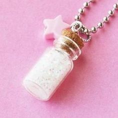 Magical Pixie Dust Necklace - you can make this yourself; dollar tree has a pack of 8 by the nail polish (these are nail polish embellishments) ~Suzan