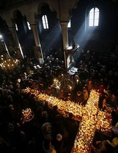They've been busy as the proverbial bees in Bulgaria, as this picture of a dimly lit vigil shows. If you look closely at the jars amid the candles at this church 60 miles south of the country's capital, Sofia, you'll see they contain something rather sweet. It's the town's honey harvest, and it is the focus of a religious festival that pays homage to the hardest-working of insects.    The annual event takes place in the Presentation of the Blessed Virgin church in the town of Blagoevgrad…