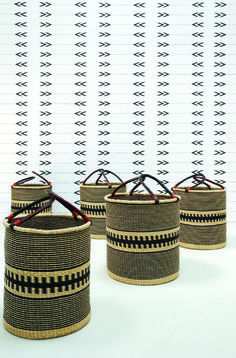 Styling Cathy O'Clery of Platform Creative Agency   photo Simone Khan   Client Private House   Ghanaian baskets   African design