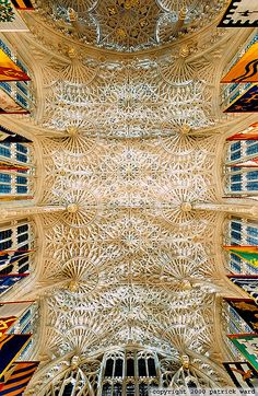 Perpendicular style fan vaulting, Lady Chapel, Westminster Abbey, London, by Rick Ward Architecture Unique, Cathedral Architecture, Synagogue Architecture, Cathedral Church, Westminster Abbey, Kirchen, Beautiful Buildings, Interior And Exterior, Medieval
