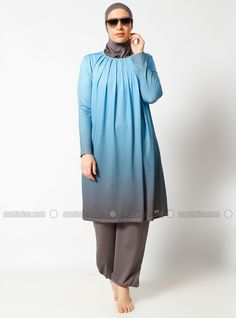Modanisa your online muslim modest fashion store. Mode Abaya, Mode Hijab, Satin Pyjama Set, Pajama Set, Modest Fashion, Hijab Fashion, Modest Workout Clothes, Muslim Swimwear, Modest Swimsuits