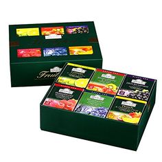 Ahmad Tea Fruity Tea Teabags, 60 Count: A spectrum of popular fruit flavor's in green and black teas. A beautiful gift that will be enjoyed and remembered. Ahmad Tea, Ministry Ideas, Women's Ministry, Tea Blends, Gourmet Recipes, Flavoured Tea, Envelope, Lime, Fruit