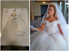 """Colaboración de Lorenzo Caprile para """"El lobo de Wall Street"""" (2013) Vestido de novia de  Margot Robbie como Naomi Lapaglia"""