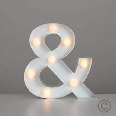 Decorative 'And' Shaped Wall Hanging Light with 8 Warm White LEDs - Battery Operated