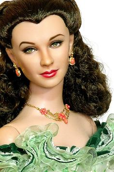 One of the most stunning Scarlett O'Hara dolls I've ever seen.