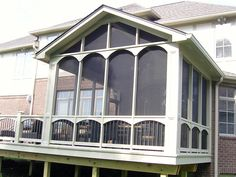 Screen Porch ~ours would be like this but with the deck on the right behind the kitchen