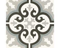Vloertegel Pastel black 20x20 cm Vinyl Tiles, Wall Finishes, Stained Glass, Art Nouveau, Stencils, Stamp, Flooring, Inspiration, Black