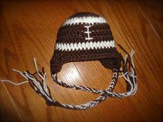 Newborn 03 Month Football Hat & by BeautifulMessCrochet on Etsy, $20.00