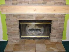 tile over brick fireplace before and after | For the Home ...