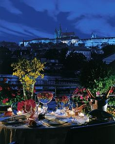Romantic View From Allegro Terrace at Four Seasons Prague - would love to travel here for a meeting or conference