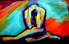 """Saatchi Online Artist Helena Wierzbicki; Painting, """"""""Darkness"""""""" #art"""