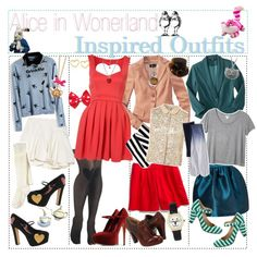 """""""Alice In Wonderland Inspired Outfits <3"""" by tip-tastic on Polyvore"""