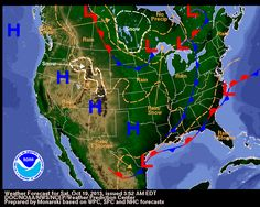 National Forecast Map for central Illinois Weather article, map courtesy National Weather Service Weather Predictions, Weather Forecast, Tornado Formation, Weather Blog, Snow Rain, Severe Storms, Rain Storm, National Weather Service