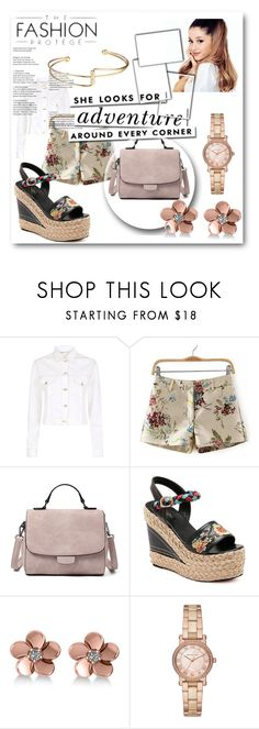 """""""// RoseGal // 76/90"""" by nura-akane ❤ liked on Polyvore featuring Maje, Kate Spade, Allurez and Michael Kors"""