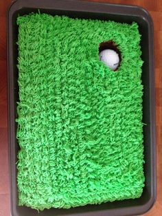 Father's Day Golf Cake - add a flag stick.  Try this with brownies instead of a cake