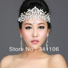 New 2014 Free Shipping Czech Crystal Frontlet Tiara Bridal Hair Accessoies Hair Jewelry Wedding Jewelry Wedding Accessories $18.99