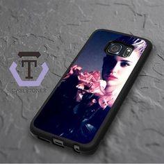 Miley Cyrus Pink Flower Rose Samsung Galaxy S6 Edge Plus Black Case