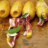 Aardappel gevuld met bacon