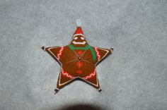Gingerbread Man Star Ornament Pattern by AnnanootsTreasures on Etsy