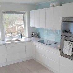 Here are the White Kitchen Design Ideas For Your Home. This article about White Kitchen Design Ideas For Your Home … Kitchen Room Design, Kitchen Cabinet Design, Modern Kitchen Design, Home Decor Kitchen, Interior Design Kitchen, Home Kitchens, Kitchen Ideas, Kitchen Cabinets, Soapstone Kitchen